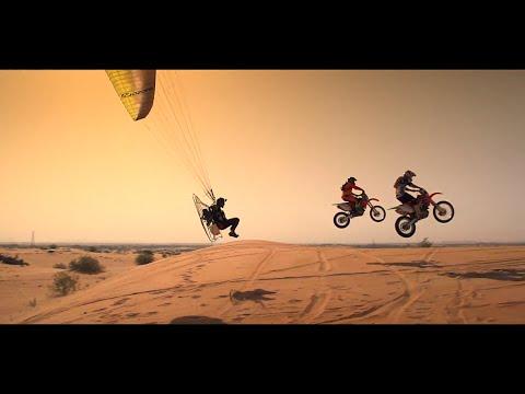 Dubai UAE Desert Motocross Paramotor Just Gas It