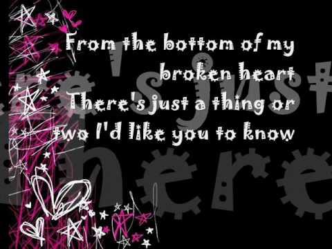 Bottom of my broken heart lyrics