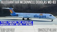[TRIP REPORT] Allegiant Air McDonnell Douglas MD-83 Newburgh (SWF) - Orlando Sanford (SFB)