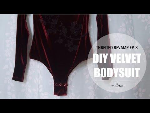 DIY Velvet Bodysuit | Thrifted Revamp Ep. 8