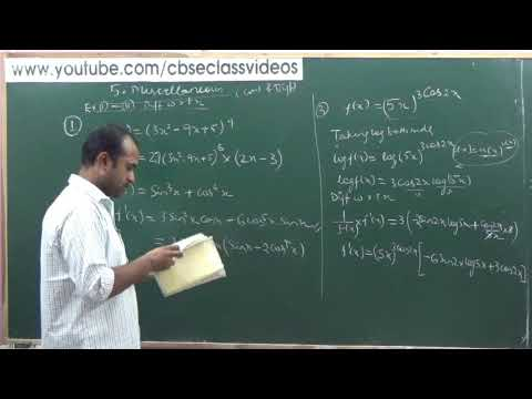 NCERT 12 Maths Ex 5Misc Part 1 Ch 5 Continuity & Differentiability hints & solutions