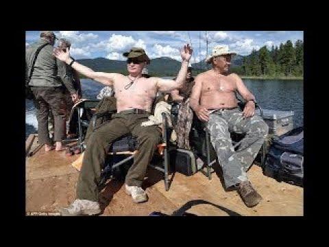 EXCLUSIVE: Real Man Putin Goes Fishing on Siberian Summer Holiday