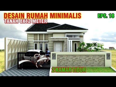 Desain Rumah 8x12 M Dengan 2 Kamar Tidur Eps 018 Youtube