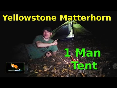 Yellow Stone Matterhorn: 1 Man Tent;  Night Out Wild Camping in the Woods