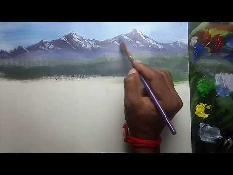Oil painting lessons | Art classes for beginners | Oil painting tutorial | Canvas board painting