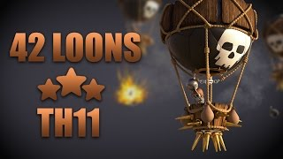 Mass Balloon Take Down TH11 (42 Loons + 1 Lava) | Clash Of Clans