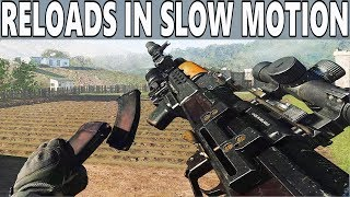 COD MODERN WARFARE - Weapon Reloads In Slow Motion