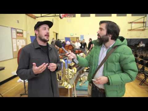 Portugal. The Man donates musical instruments to Ron Russell Middle School