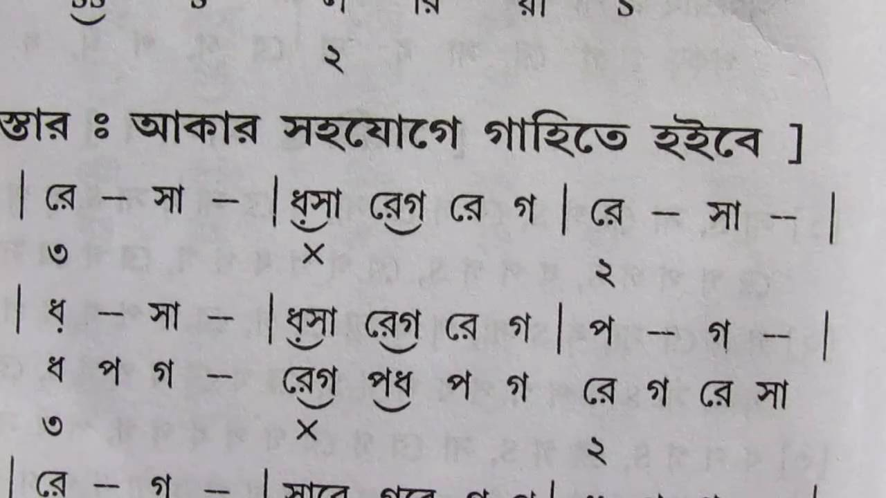 Raag Bhupali Lyrics with swaralipi Indian Classical Sangeet