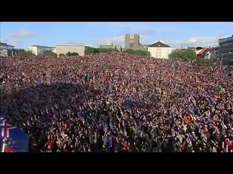Iceland Fans Perform A 'Viking Clap' To Welcome Home Players