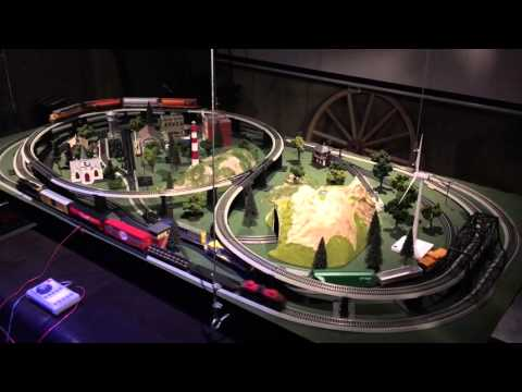 HO Scale Complete Multi-Train Layout with Tracks, Trains, Controller and Scenery Elements - Updated