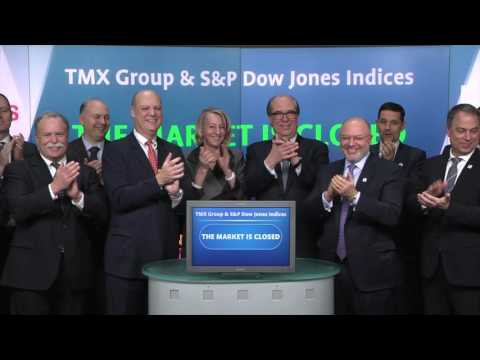 TMX Group and S&P Dow Jones Indices close Toronto Stock Exchange, January 27, 2016