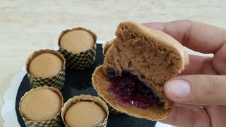 LIGHT,FLUFFY,SPONGY CHOCOLATE CHIFFON CUP CAKES WITH  BLUE  BERRY FILLING  IN URDU /HINDI BY KWF