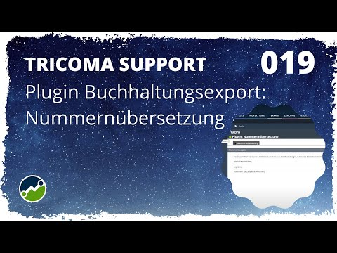 tricoma support #019: Plugin Buchhaltungsexport: Nummernübersetzung