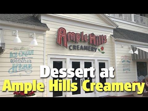 Dessert at Ample Hills Creamery   Disney's Boardwalk