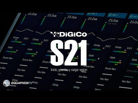 DiGiCo S21 - Inicio, guardar, y cargar sesión