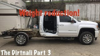 "2018 GMC Sierra Denali ""Dirtnali"" Part 3: Stripping the parts cab and body panels."