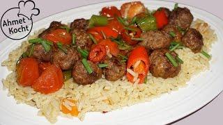 Hackbällchen mit Reis | Pirinçli Köfte | AhmetKocht | türkisch kochen | Ramadan Spezial