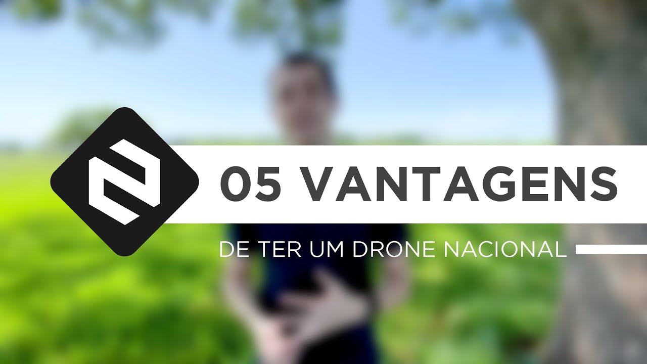 As cinco vantagens de ter um drone nacional