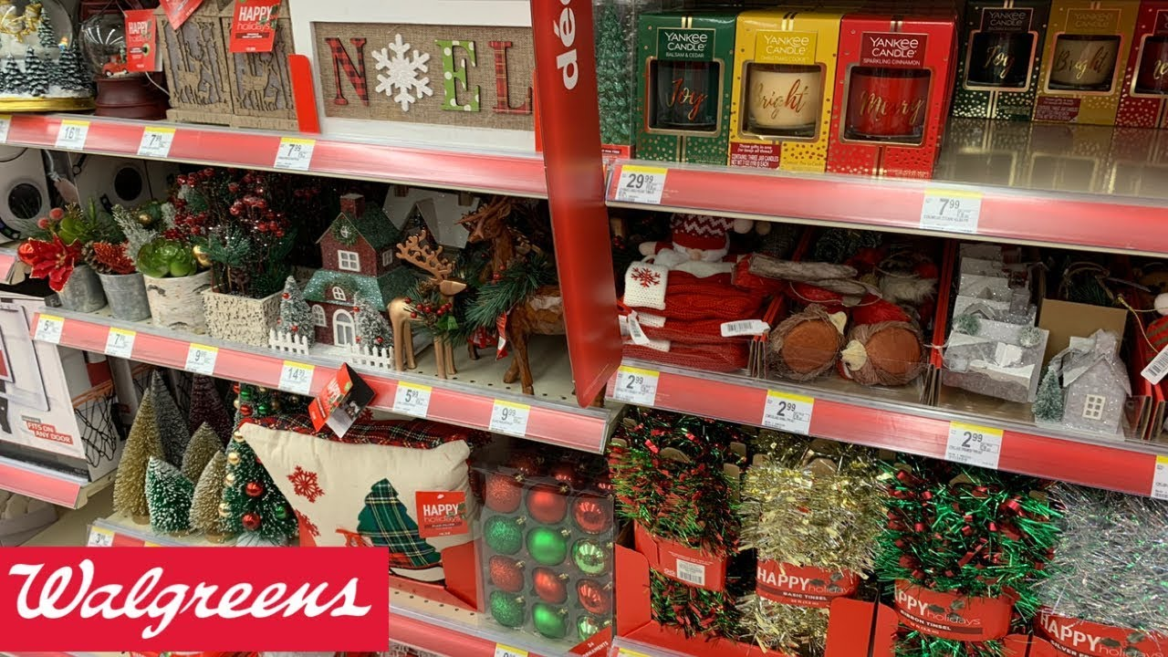 WALGREENS |CHRISTMAS DECOR 2019