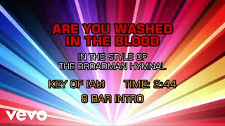 Gospel - Hymn - Are You Washed In The Blood (Karaoke)