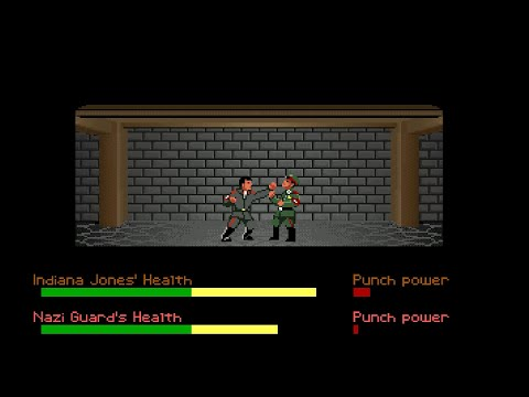 Indiana Jones And The Last Crusade Beating All The Castle Brunwald Guards Without Losing Vitality |
