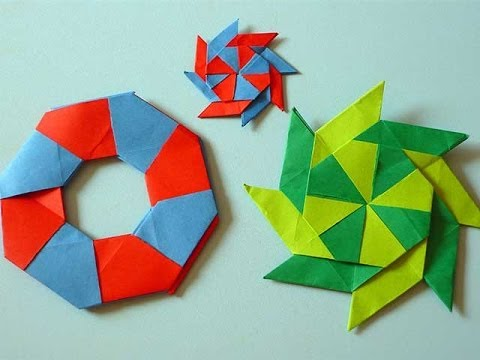 Ninja Star Origami Turns From A Circle To