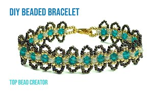 Easy pattern beaded bracelet, …