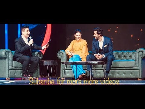 Karan johar fun chat with ranbir kapoor and deepika padukone HD quality #ranbirkapoor