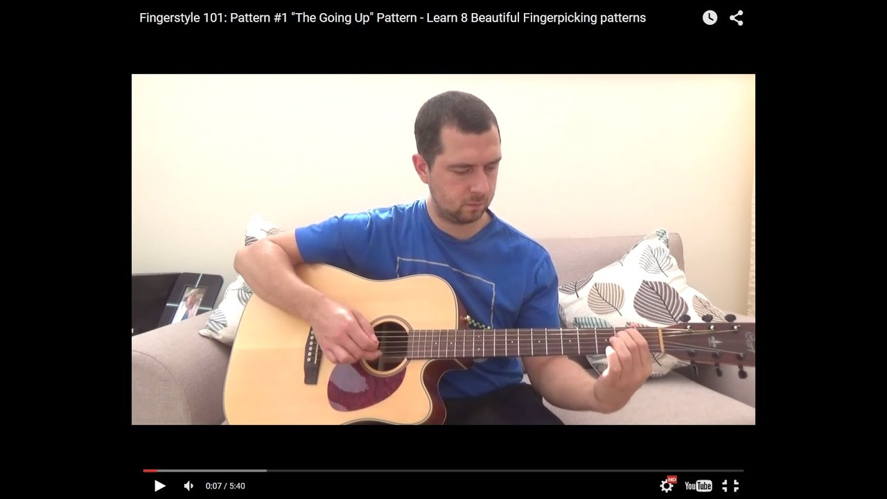 Fingerpicking patterns #1