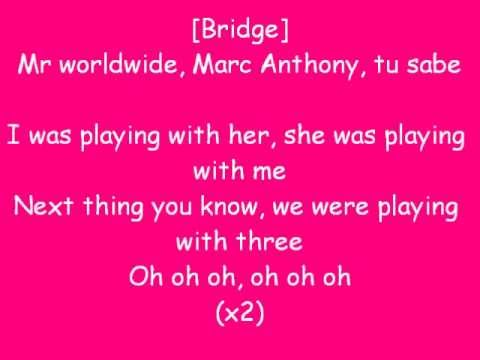 Rain Over Me  Pitbull ft Marc Anthony Lyrics