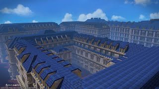 【ドラクエビルダーズ2】パリみたいな街を作りたい!建築ライブ #6 区役所を作る。