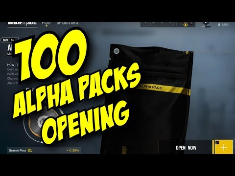 Rainbow Six Siege 100 Alpha Packs Opening BLACK ICE SKINS Gameplay TTS Patch 2.2.1 Unboxing