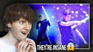THEY'RE INSANE.. (EXO (엑소) 'Lightsaber + Transformer…