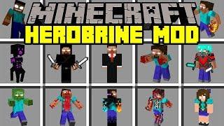 Minecraft HEROBRINE REBORN MOD!   SURVIVE AGAINST THE HEROBRINE ARMY!   Modded Mini-Game