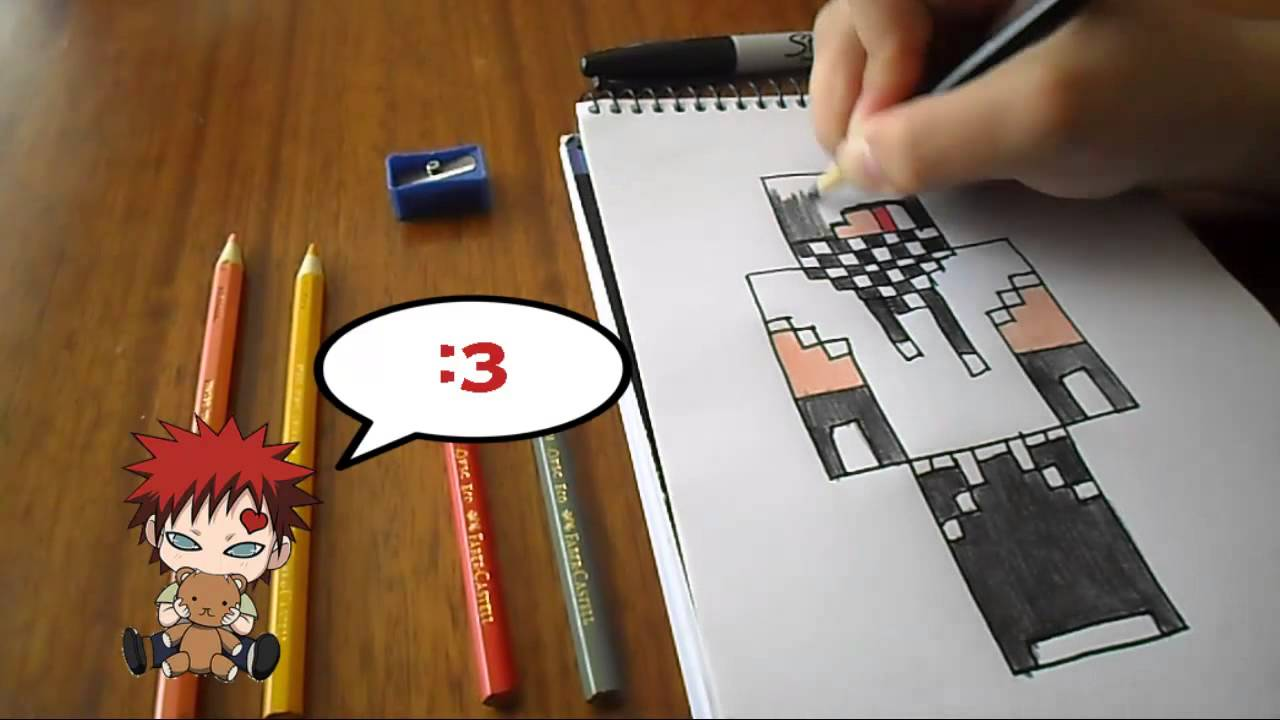 Dibujando Skin Ivancraft11 Minecraft Youtube