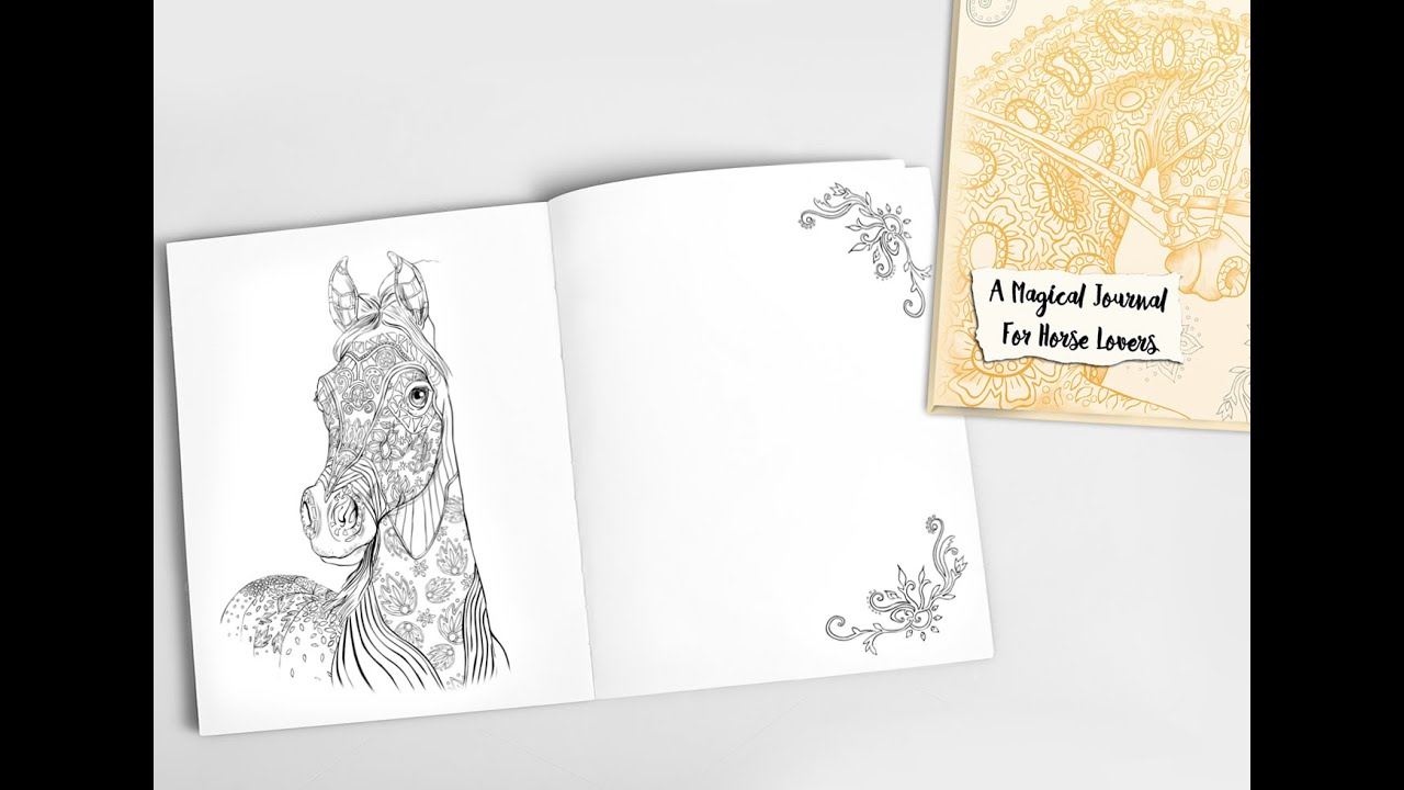 Magical Journal For Horse Lovers Adult Coloring Book