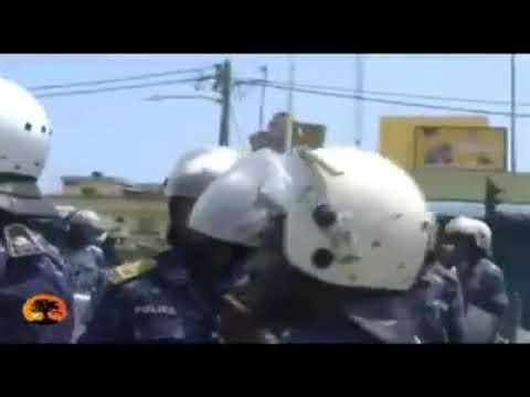 TOGO cé matin les forces de l'ordre tire sur les journalistes pour qu'il ne filime pas la situation