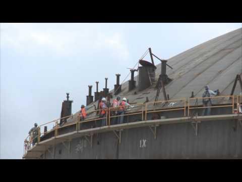 Air Raising of Roof at Coastal Petroleum in the Dominican Republic