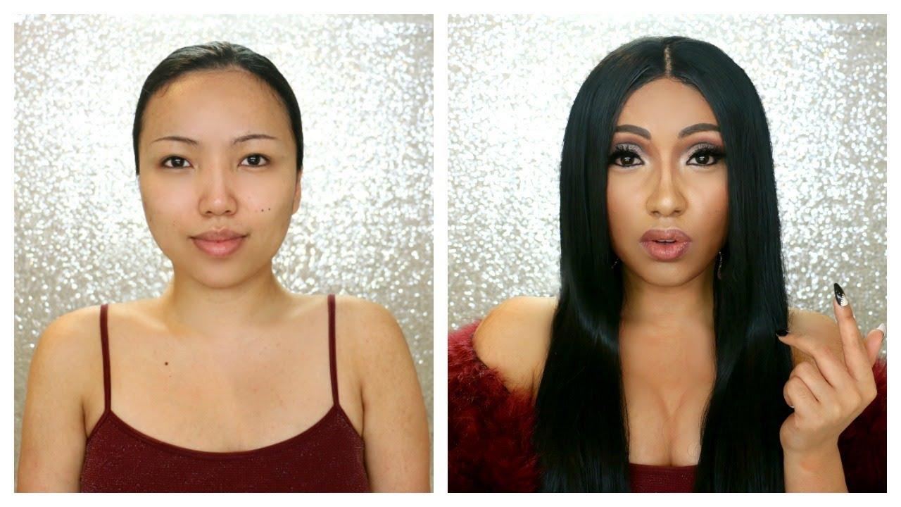 Cardi B Look Alike: CARDI B Makeup Transformation !!!