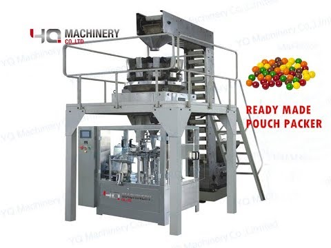 Ready Made Pouch Packaging Machine For Small Ball Pick Fill And Seal Equipment