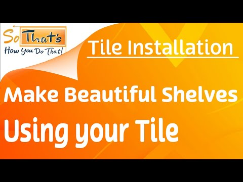how to build a corner shelf in a shower using tile