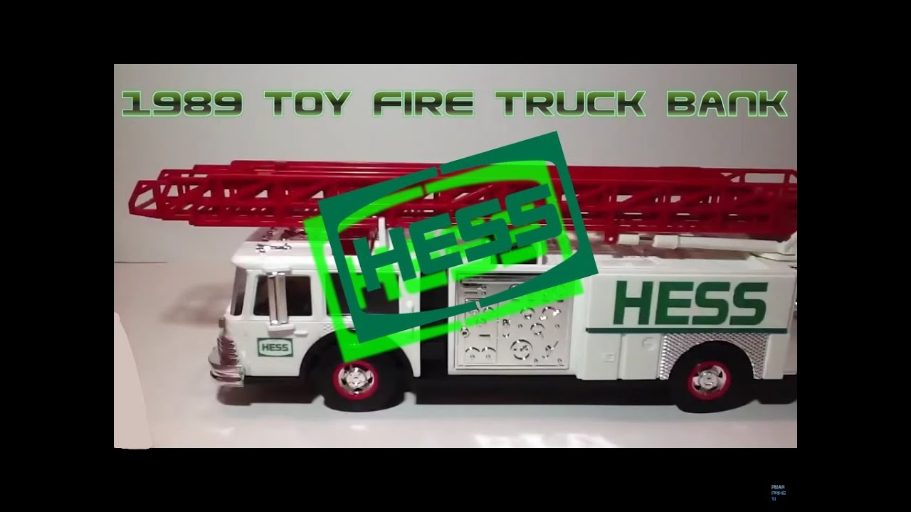 Video review of the hess toy truck 1989 hess toy fire truck bank youtube