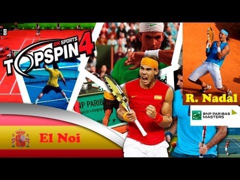 Top Spin 4 ps3 español modo carrera   BNP Paribas Master ATP   Final Rafa Nadal muy difícil