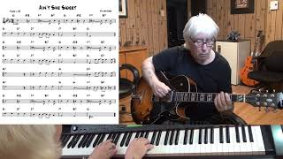 Ain't She Sweet - Jazz guitar & piano cover ( Milton Ager )