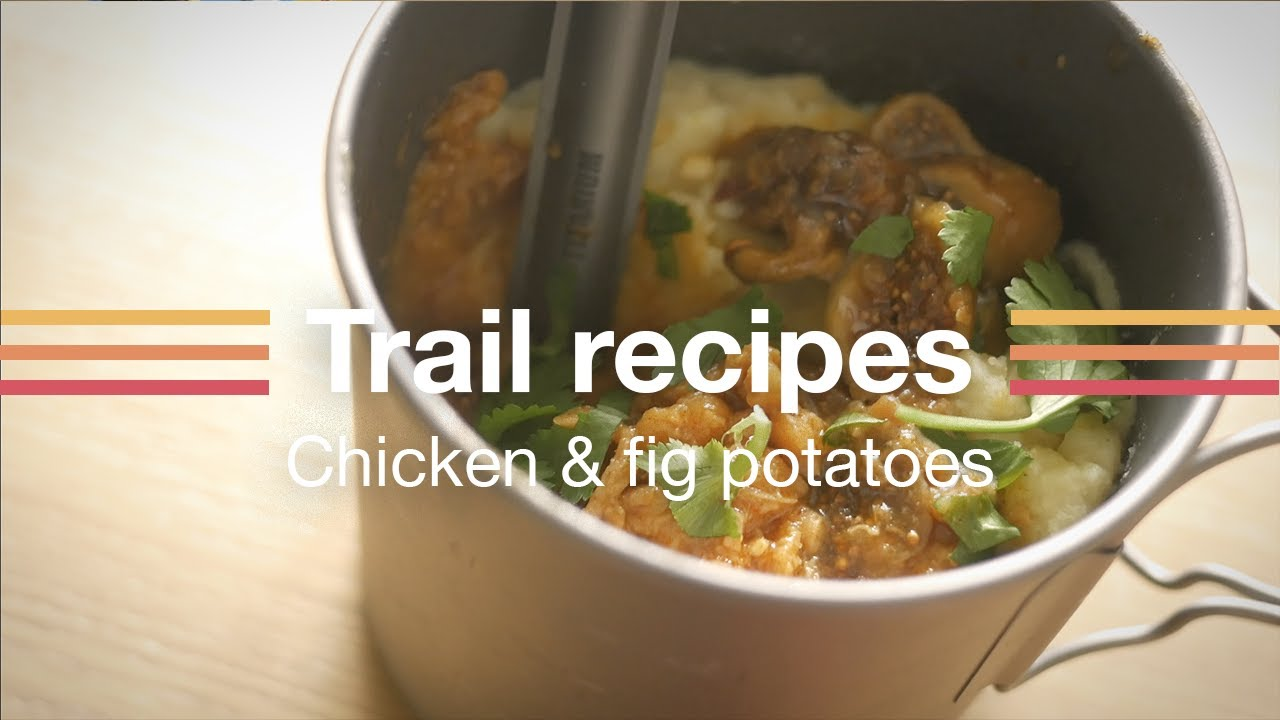 Chicken with fig gravy & mashed potato - Backpacking recipes