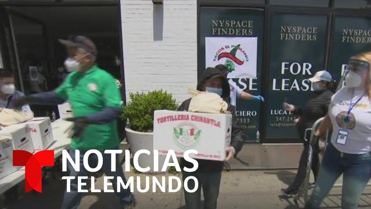 Entrega de alimentos en Consulado de Mxico en Los ngeles