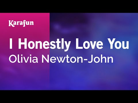 Karaoke I Honestly Love You - Olivia Newton-John *