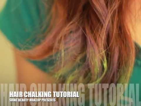 shwebeauty makeup hair chalk tutorial m4v youtube