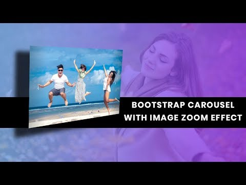 Full-Screen Bootstrap Carousel with image zoom effect | Bootstrap slider